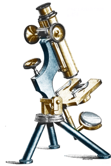 The monocular microscope in use from 1897.