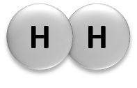 Molecules are defined as any group of atoms which are chemically bonded together. These atoms can be identical; for example, oxygen gas is made up of two oxygen atoms (O2).  Compounds are two or more different atoms bonded together. For example, water contains two hydrogen atoms and one oxygen atom (H2O). Atoms are able to form three different types of chemical bonds - ionic, covalent, and hydrogen bonds.